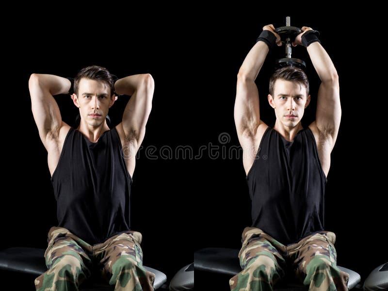 Athletic Man Exercising royalty free stock photos