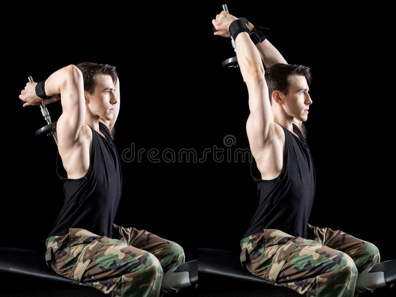 Athletic Man Exercising stock photography
