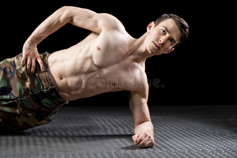 Athletic Man Exercising royalty free stock image