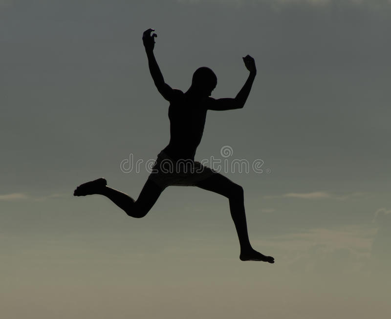 Download Athletic man jumping stock photo. Image of jumping, determination - 12719044