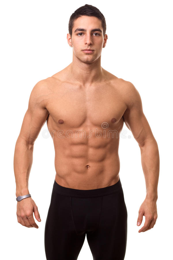Athletic Man Shirtless stock photo
