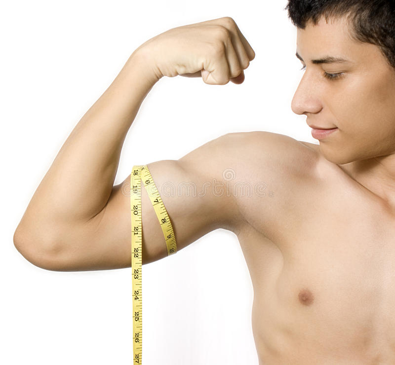 Athletic man. A young and athletic man stock image