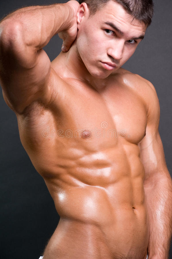 Athletic model stock photography
