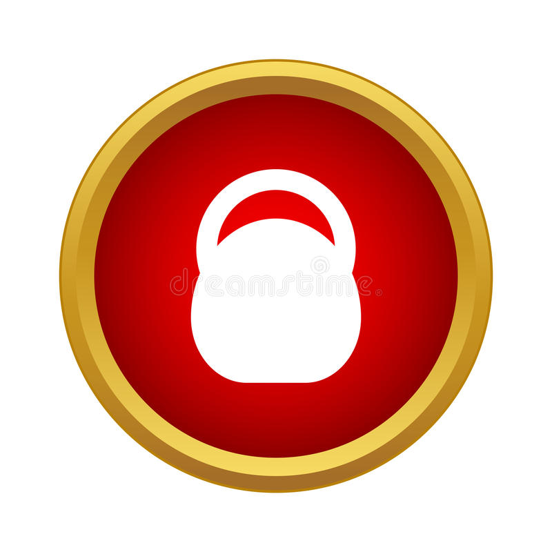 Athletic professional weight icon, simple style. Athletic professional weight icon in simple style in red circle. Sport symbol royalty free illustration