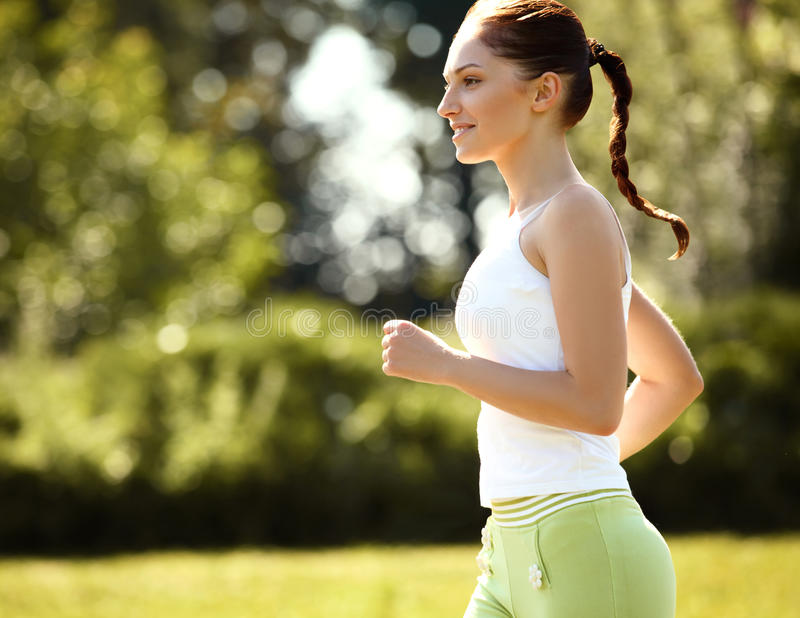 Download Athletic Runner Training In A Park For Marathon. Fitness Girl Ru Stock Image - Image of sport, sporty: 35378361