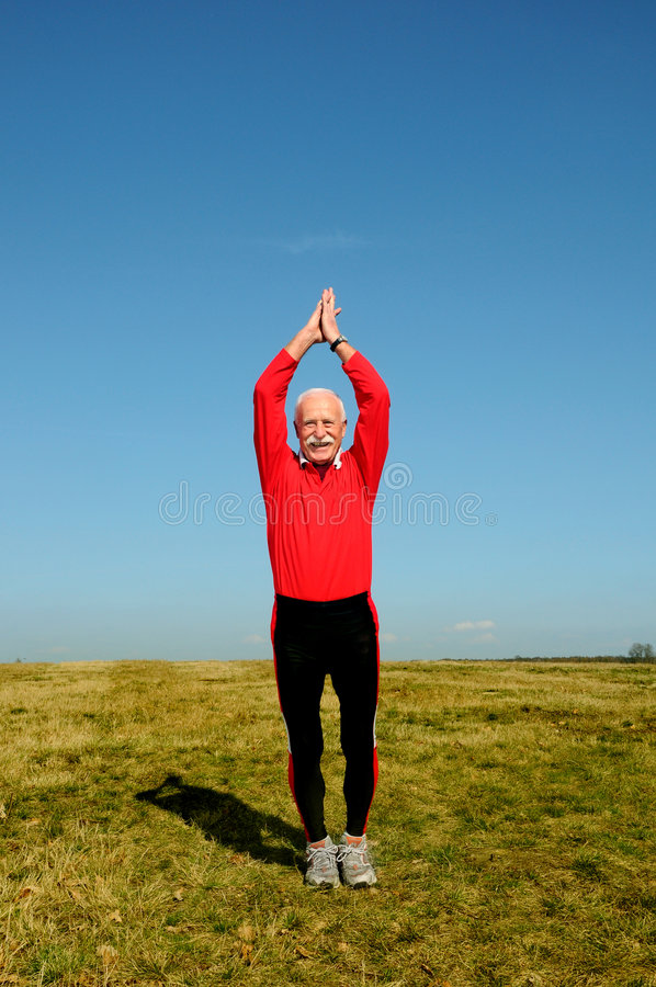 Download Athletic senior man stock image. Image of sports, gray - 4798853