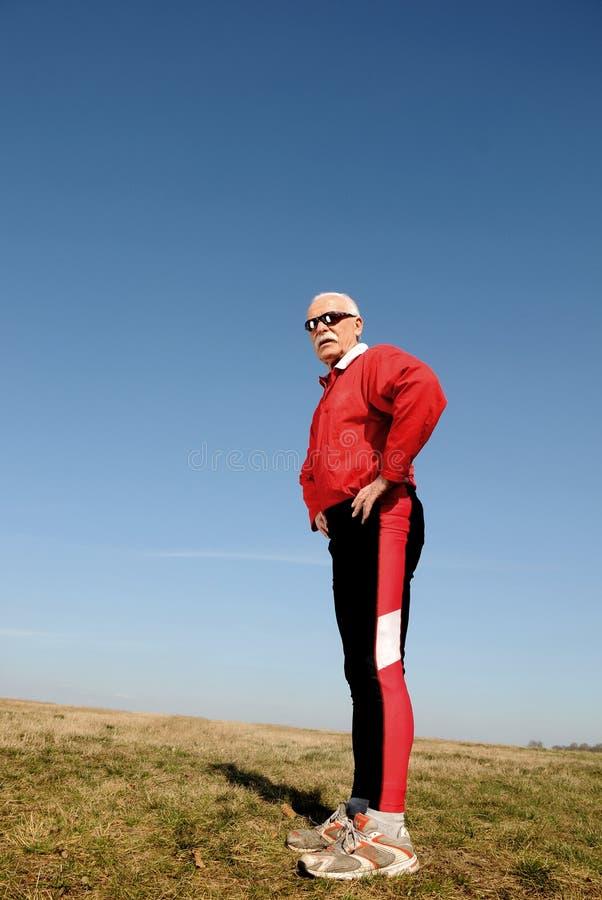 Athletic senior man royalty free stock image