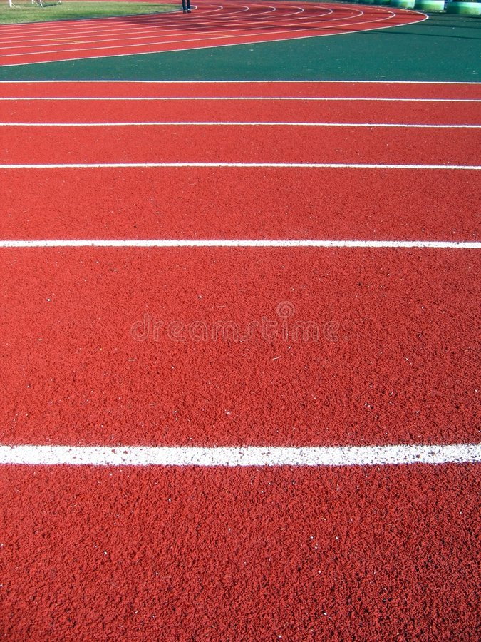 Athletic Surface Markings stock image