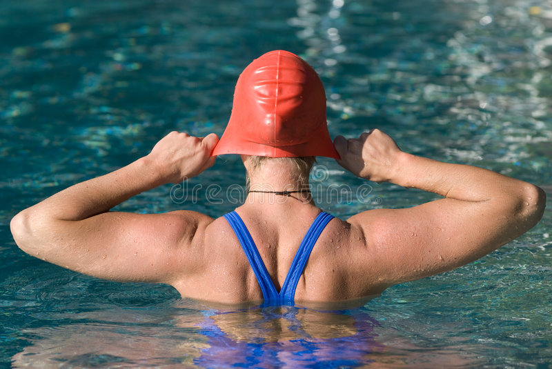 Athletic swimmer royalty free stock images