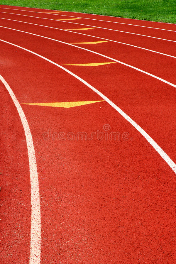 Athletic track stock photography