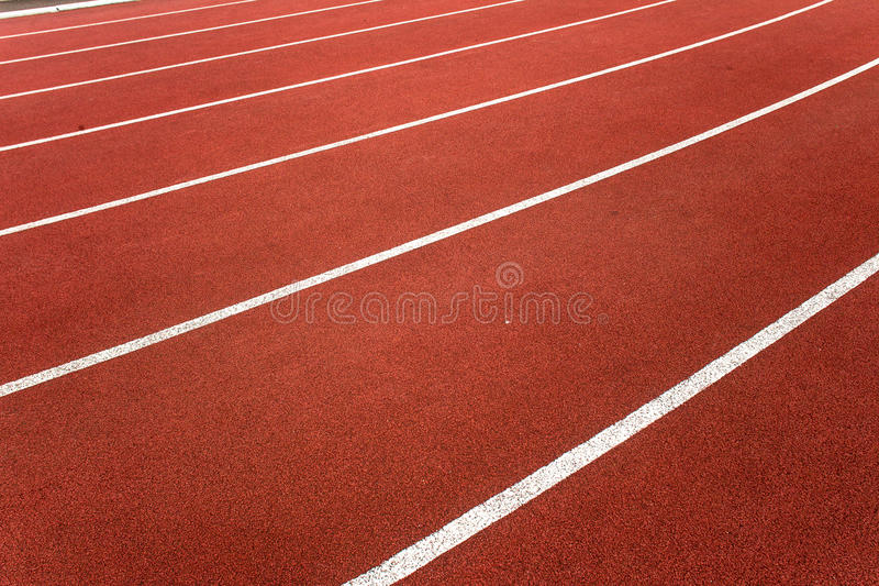 Athletic Track Lanes Angle