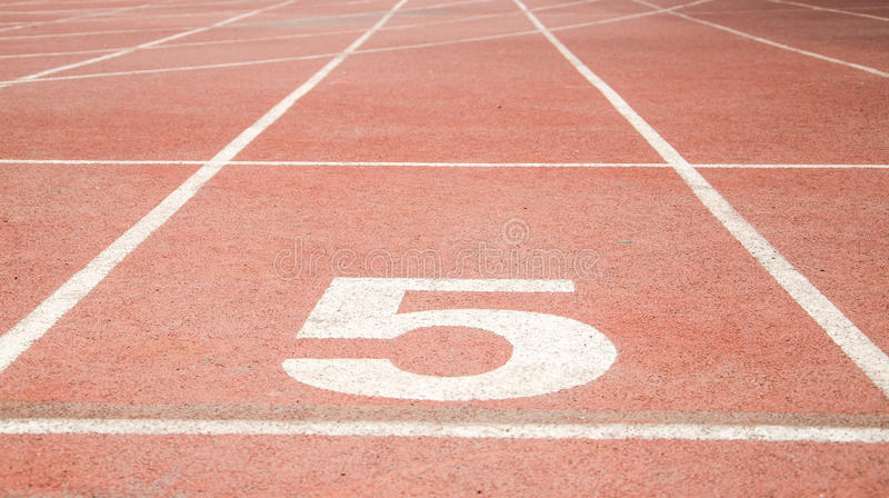Athletic track royalty free stock photography