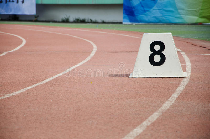 Athletic track stock photos
