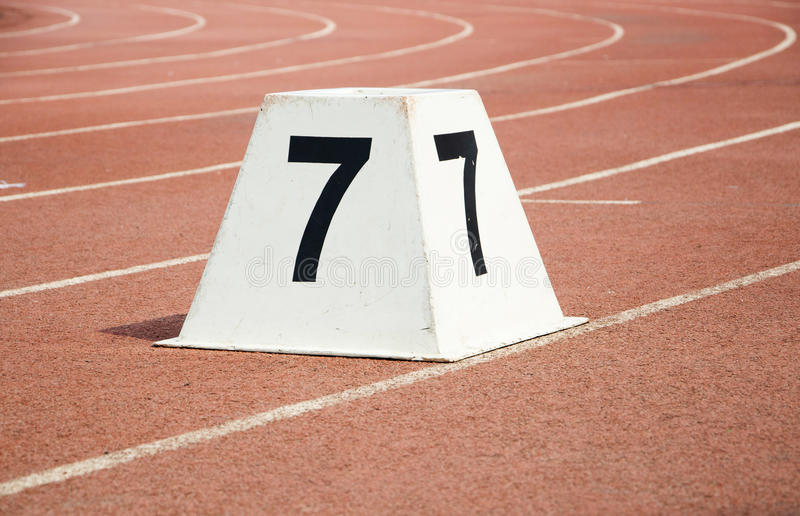 Athletic track royalty free stock images