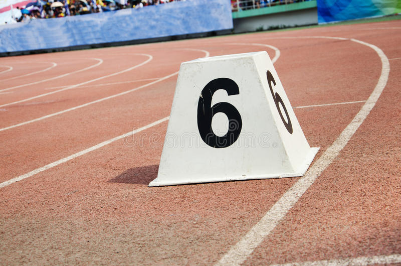 athletic track stock image