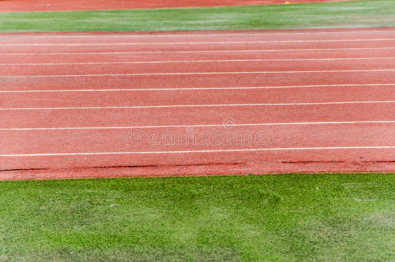 Athletic track royalty free stock photos