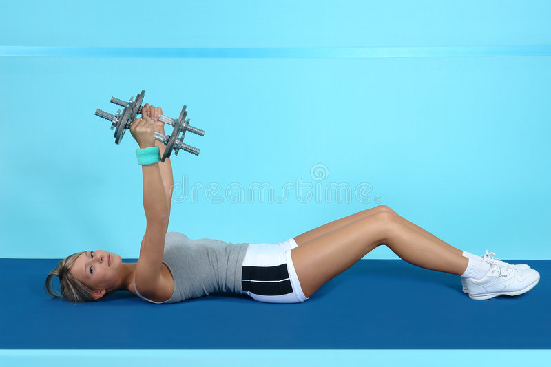Athletic training. Sports wear style for young girls royalty free stock photography