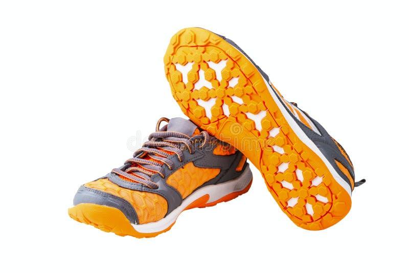 Athletic unisex shoes. Isolated on white background stock image