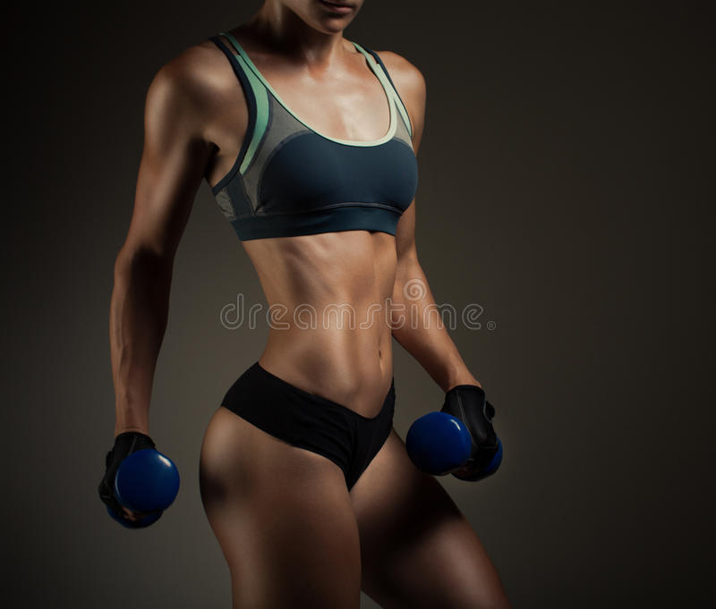Athletic woman royalty free stock photos