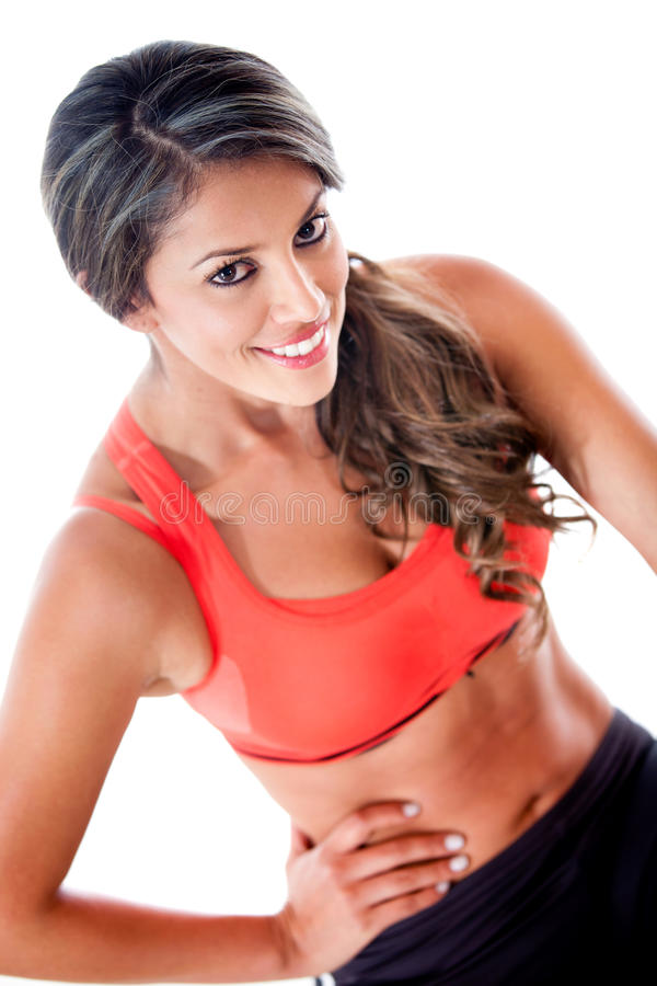 Athletic woman smiling