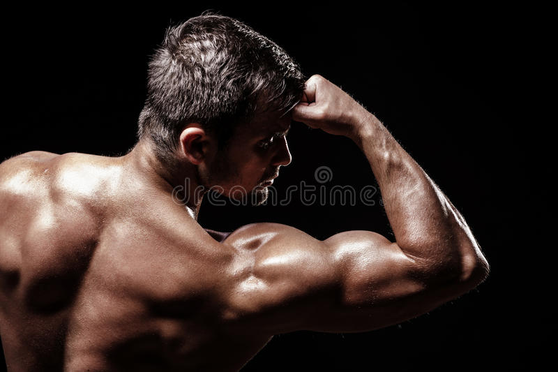 Download Athletic Young Man On Black Background Stock Image - Image: 41868817
