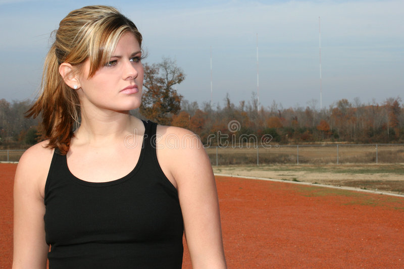 Download Athletic Young Woman At Track Stock Image - Image: 379831