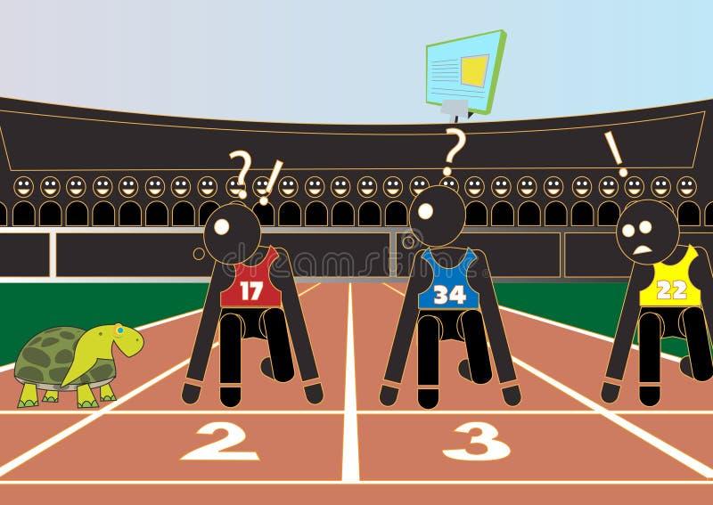 athletics ilustração royalty free