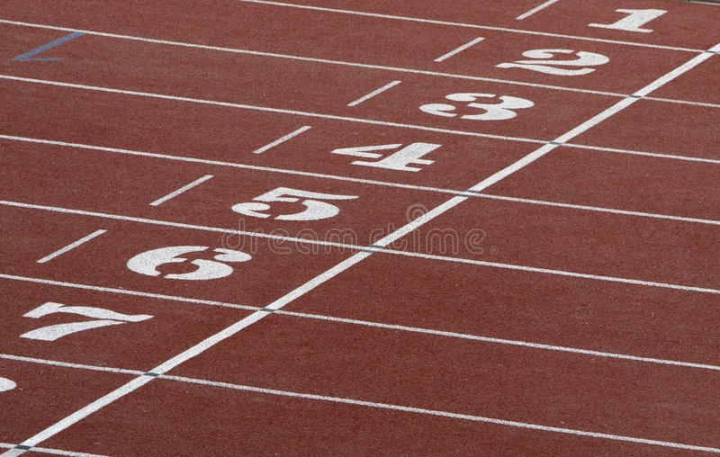 Athletics field stock images