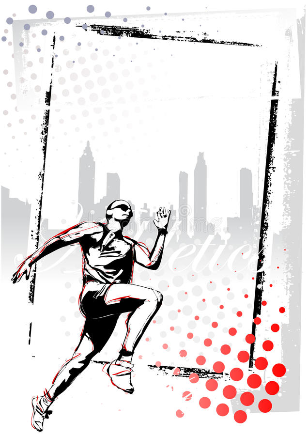Athletics Poster Stock Image