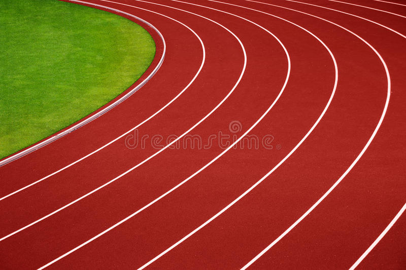 Download Athletics Running Track Curve Stock Photo - Image: 27887510