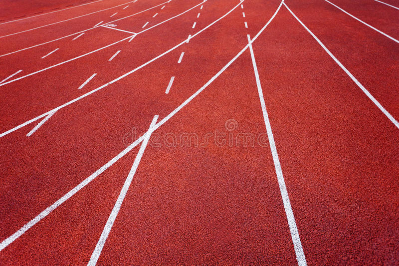Athletics runway. With number 3 track royalty free stock photo