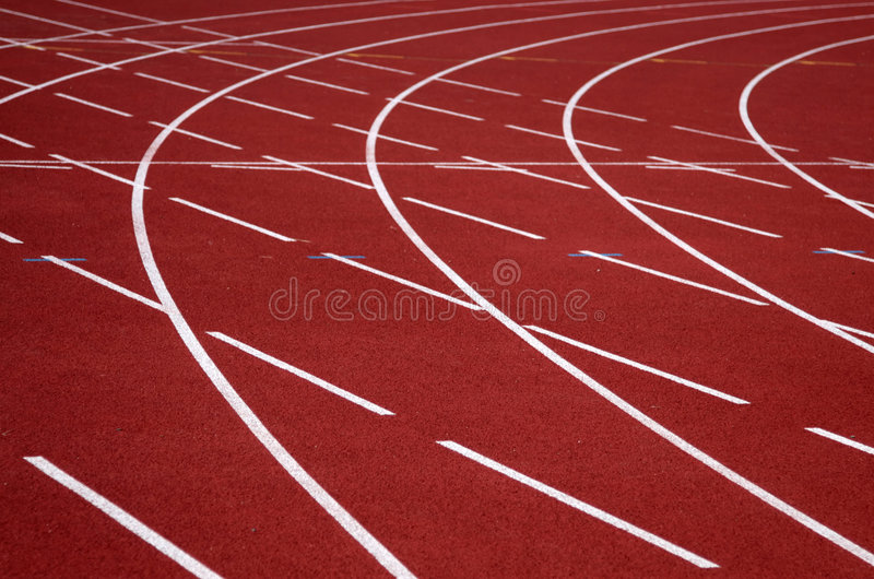 Download Athletics track stock image. Image of number, curve, line - 1074531