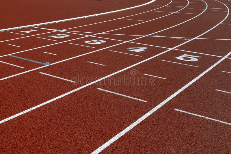 Athletics track stock images