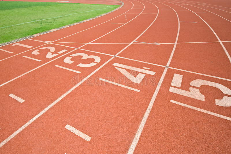 Download Athletics Track Lane Numbers Stock Photo - Image: 26667798