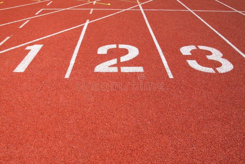Athletik-Spur-Weg lizenzfreies stockbild