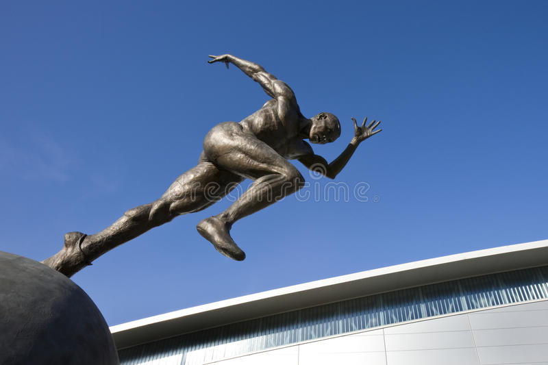 Athletik-Statue - Manchester in Großbritannien lizenzfreies stockbild