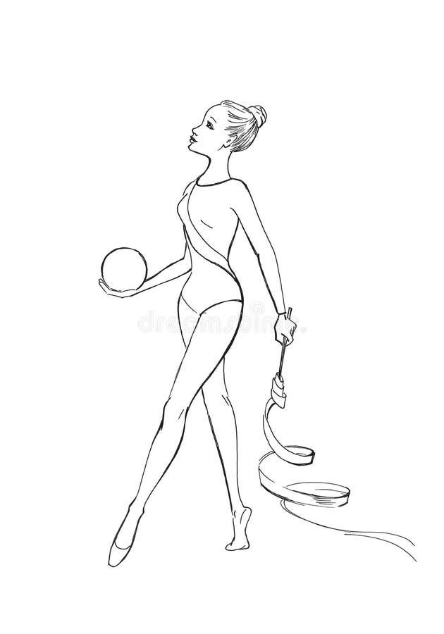 Athletik und Gymnastik vektor abbildung