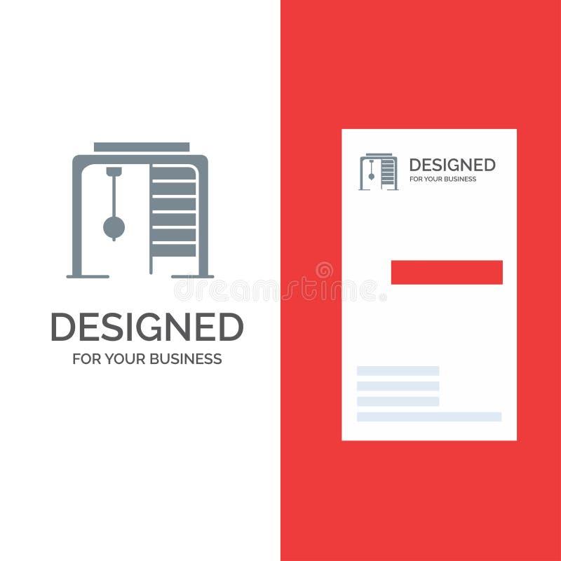 Athletisch, Ring, Sport, Spiel Grey Logo Design und Visitenkarte-Schablone stock abbildung