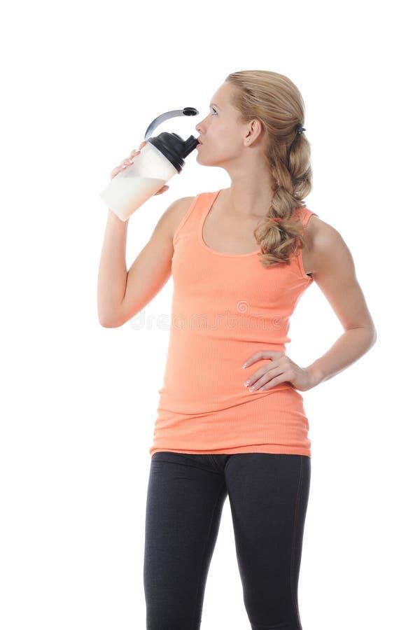 Athletische junge Frau stockfotos