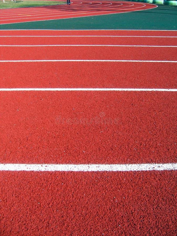 Athletische Oberflächenmarkierungen stockbild