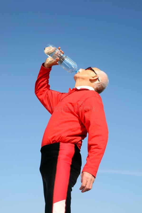 Athletischer älterer Mann stockbild