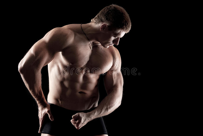 Athletischer Mann stockbild
