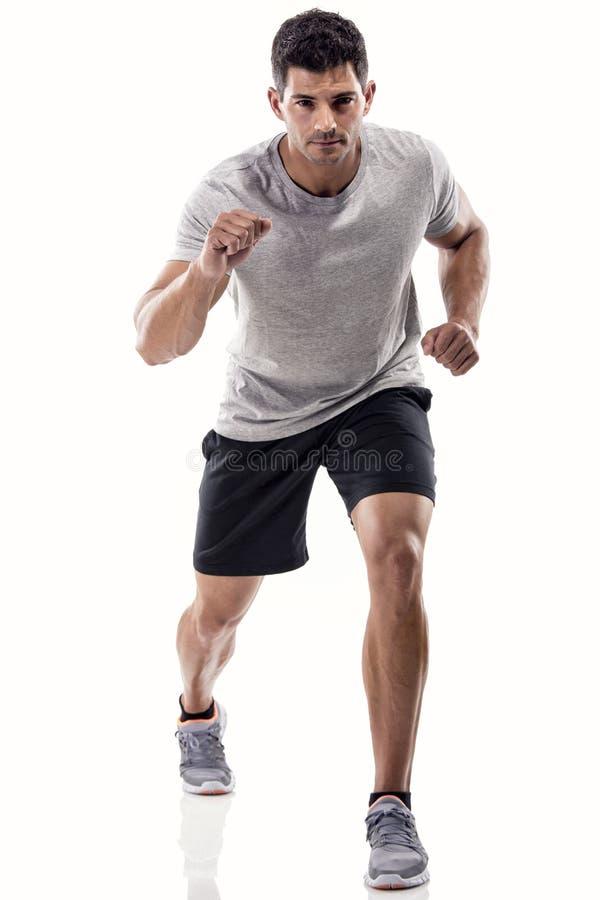 Athletischer Mannbetrieb stockfoto