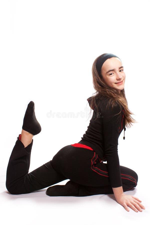 Athletisches Mädchen stockfoto