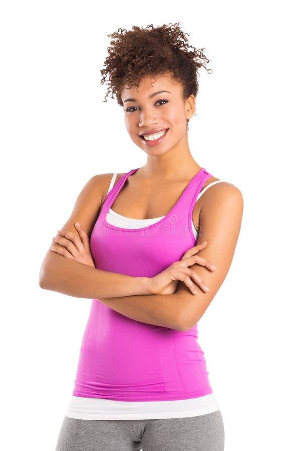 Porträt der athletischen Frau lizenzfreie stockbilder