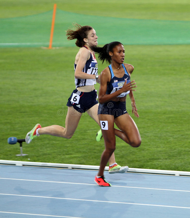 Athlets Compete In The 800 Meters Race Editorial Photo