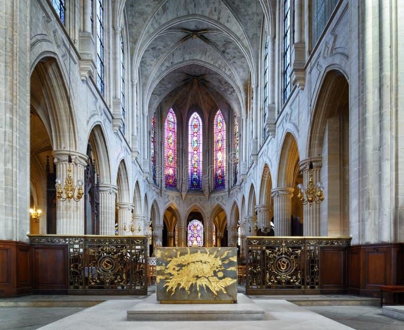 Atholic εκκλησία Ð ¡ Αγίου Ζερμαίν του Οξέρ στο Παρίσι, Γαλλία στοκ φωτογραφία