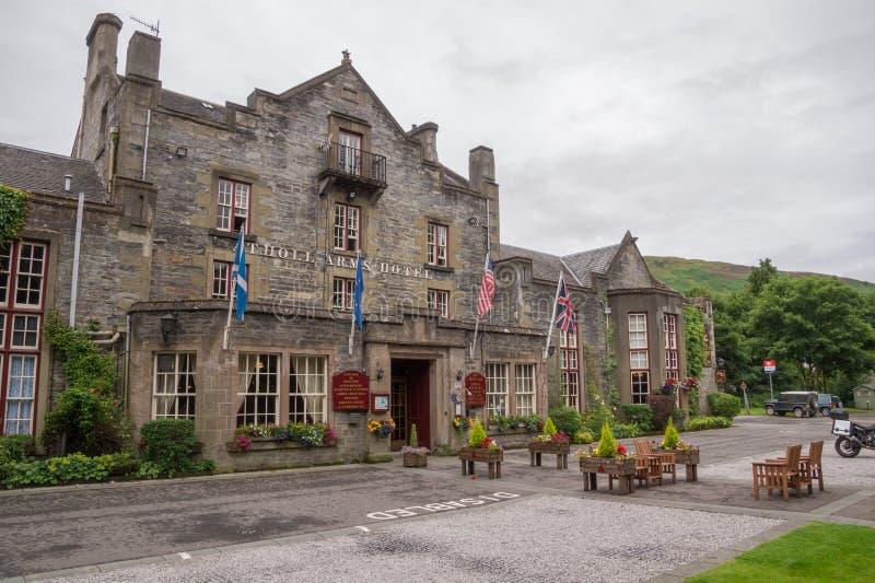 Atholl bewaffnet Hotel, Blair Atholl, Schottland lizenzfreie stockbilder