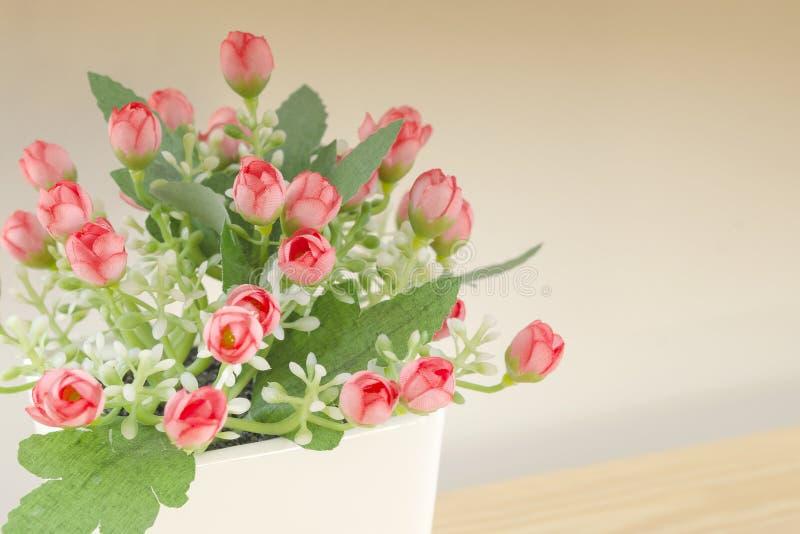 Atifialcial czerwony kwiat obraz stock