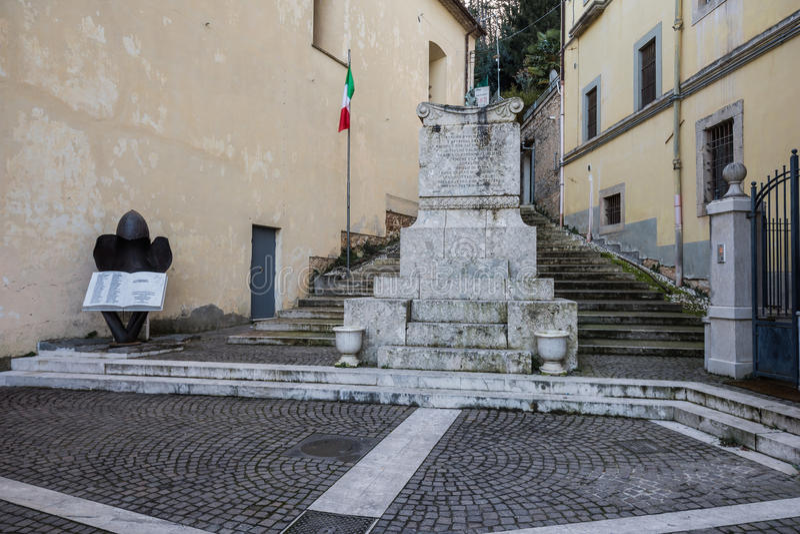 Atina Valle di Comino, Ciociaria, Italien royaltyfri fotografi